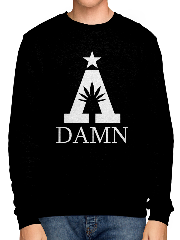 A Damn /// Special  /// CREWNECK BLACK