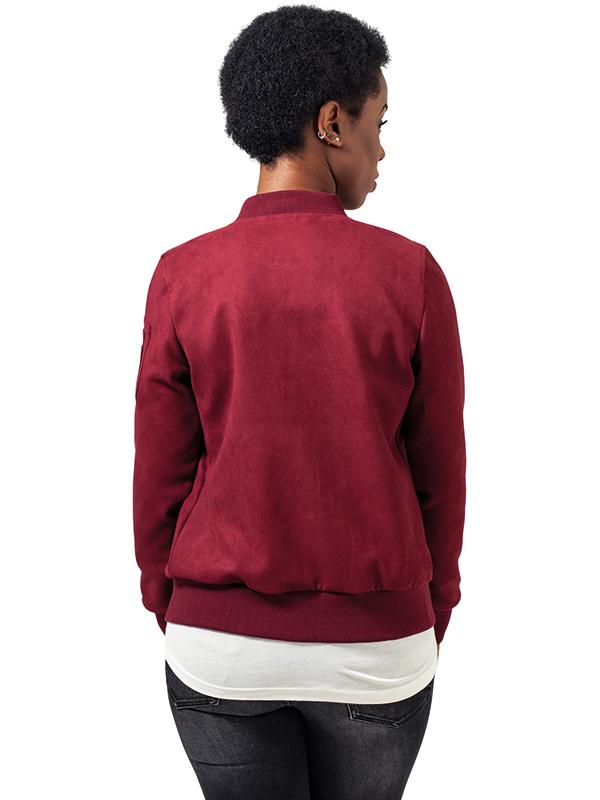 Urban /// Ladies Imitation Suede Bomber Jacket