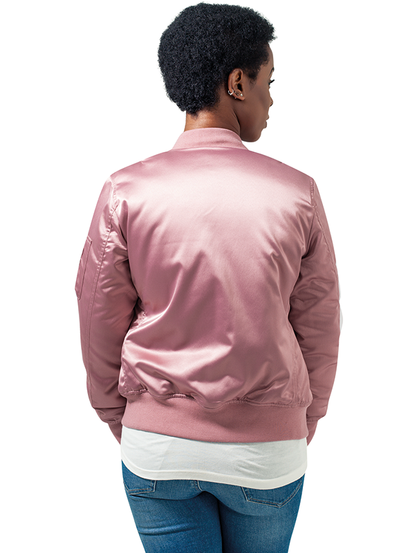 Urban /// Ladies Satin Bomber Jacket