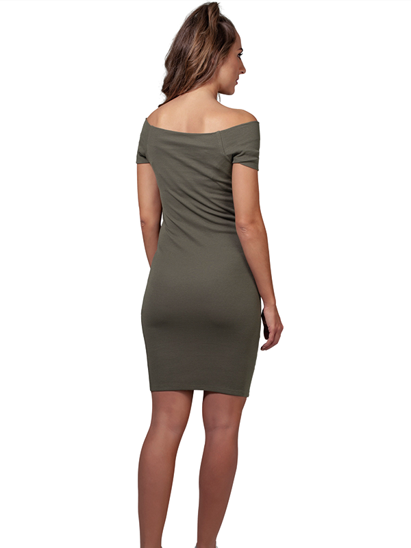 Urban /// Ladies Off Shoulder Rib Dress