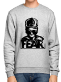 FEAR /// LOGO /// Grey Crewneck