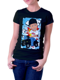 Diverse /// Comic /// Shirt Women /// schwarz