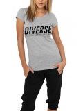 Diverse /// Jim Carrey /// T-Shirt Women /// grau