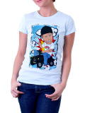 Diverse /// Comic /// Shirt Women /// weiß